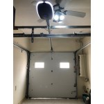 Insulated overhead sectional garage door