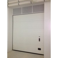 Insulated overhead sectional garage door